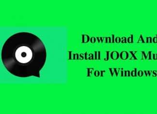 Joox music for windows