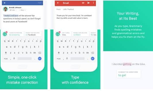 - Grammarly 1 - 10 Of The Best Free Android Apps You Should Check Out for 2019