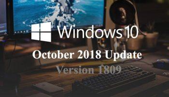 Microsoft's Windows 10 October Update