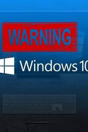 Microsoft issues warning about Windows 10 update