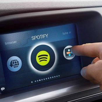 Spotify's in-car music player