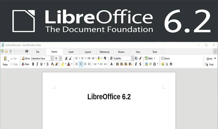 LibreOffice 6.2 released