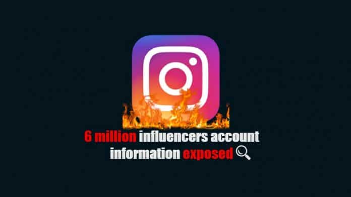 6 million Instagram influencers account information exposed, says report