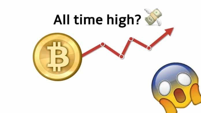 Bitcoin hits an all time high of $8,900 in 2019