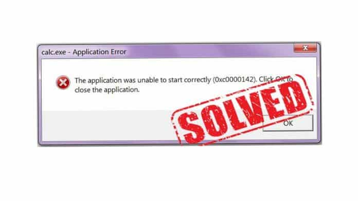 How To Fix Application Error 0xc0000142