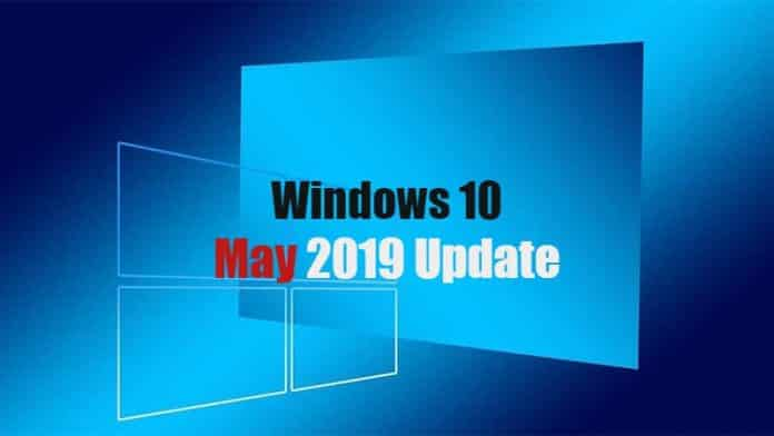 Microsoft Officially Rolls Out Windows 10 May 2019 Update