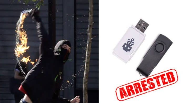 Anonymous hacker sentenced to prison after dropping USB while throwing Molotov cocktail