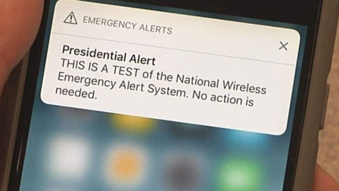 Presidential emergency alert