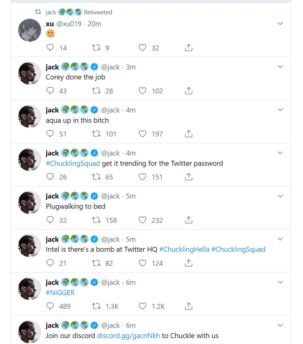 jack dorsey hacked