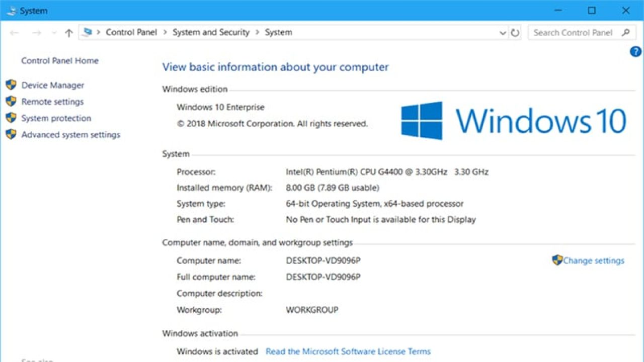How To Find Computer Specs In Windows 10