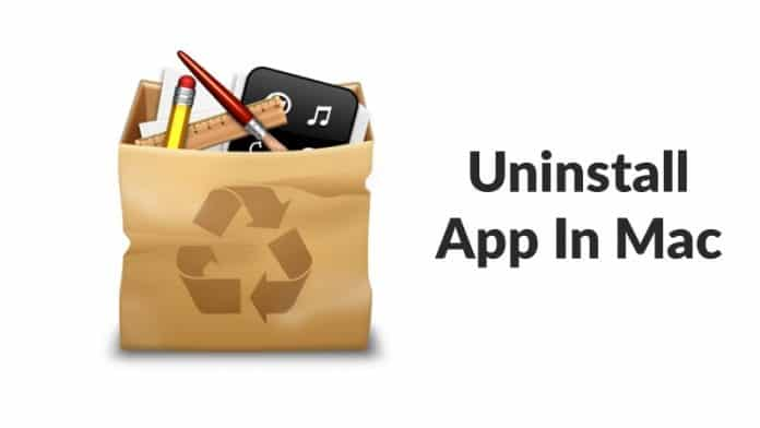 How To Uninstall An App In Mac