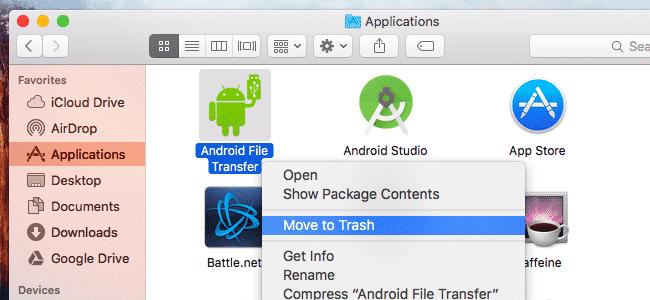 Uninstall App Using Trash
