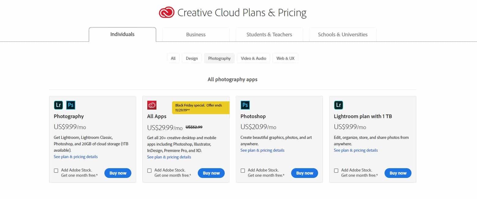 Photoshop Pricing