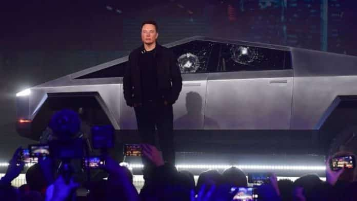 tesla's armored truck