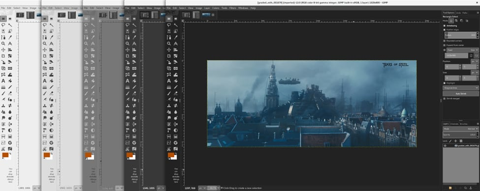 GIMP Vs Photoshop: User Interface