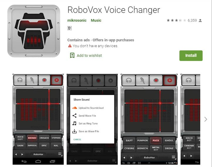 robovox voice changer app
