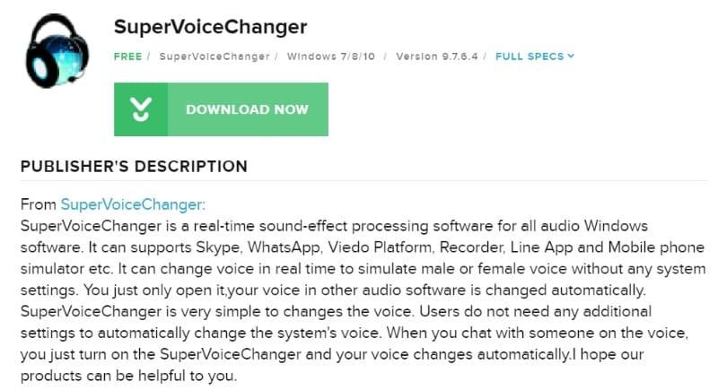 supervoice changer