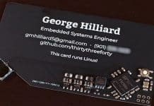 Linux running Business card