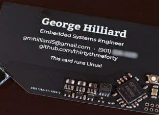 Linux running Business card