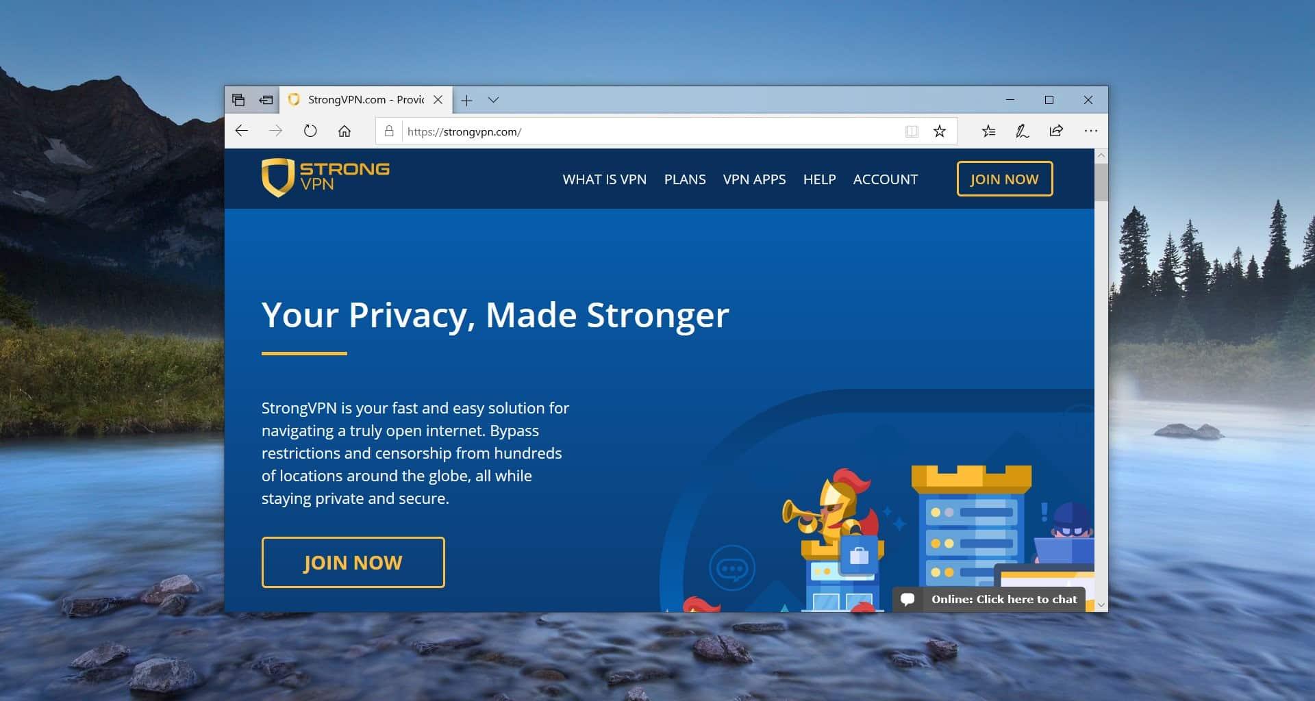 StrongVPN- Paid VPN service