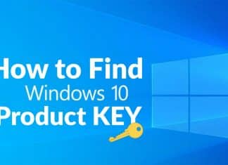 Find your Windows 10 Product Key