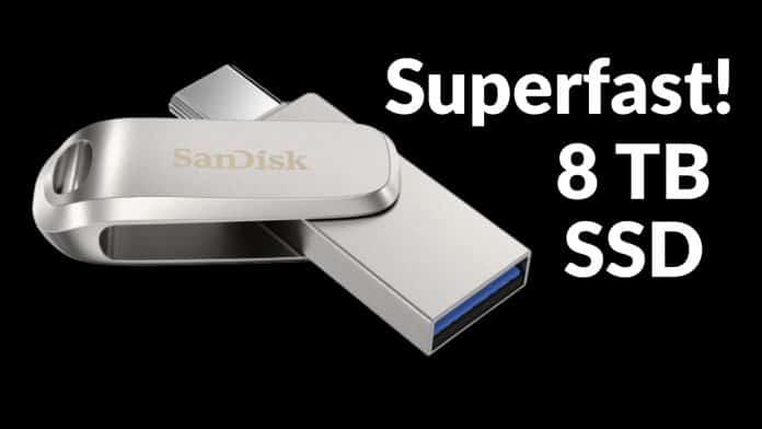 SanDisk's 8 TB Superfast SSD