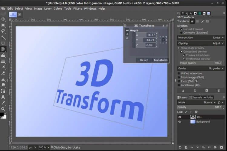 3D Transform Tool