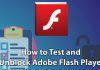 Unblock Adobe Flash player