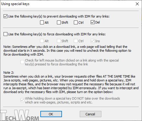 IDM Download Shortcuts