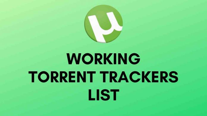 WORKING TORRENT TRACKERS LIST