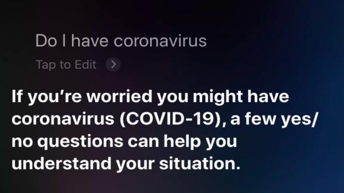 siri cornonavirus