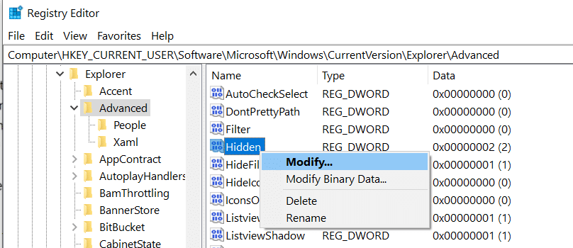 modify hidden value