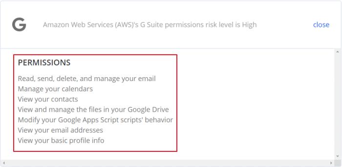 torri data permission