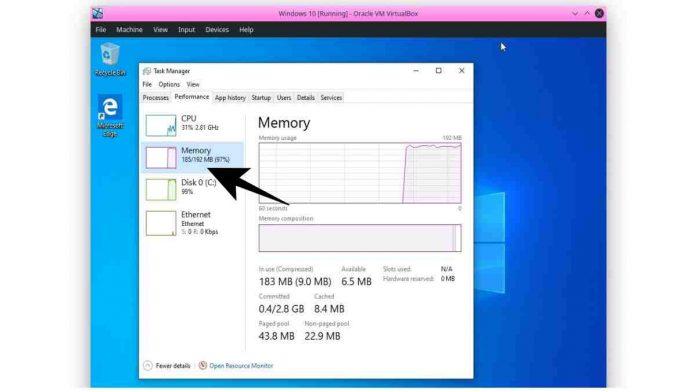 Windows 10 192MB RAM