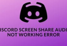 Discord Screen Share Audio Not Working Error