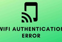 WiFi authentication error