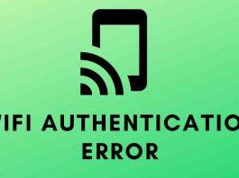WiFi authentication error