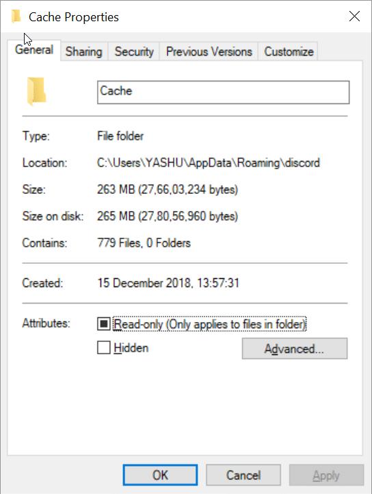 delete discord cache