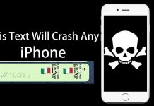 text crashes iphone