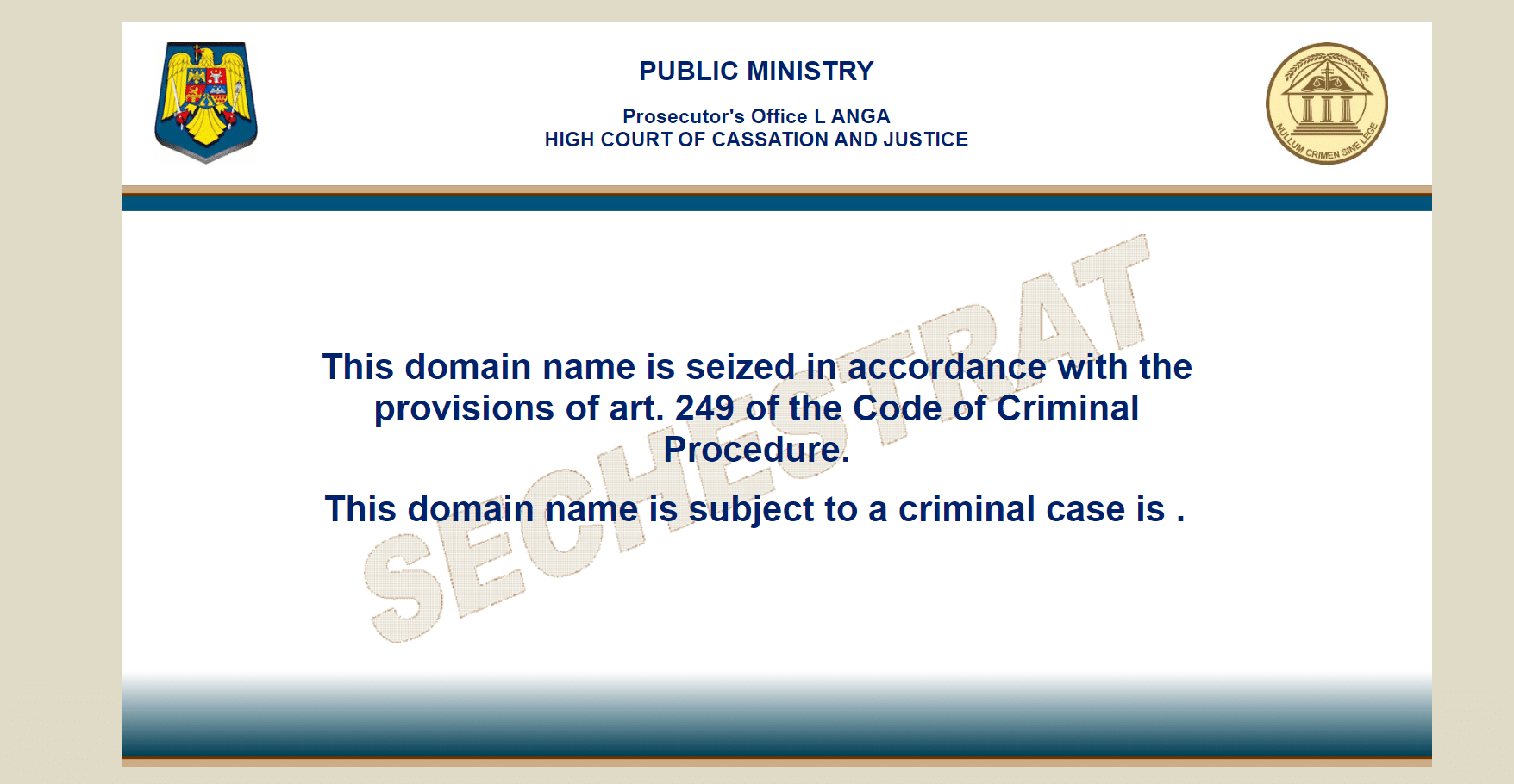 filelist domain seizure