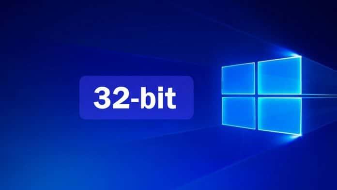 windows 10 32 bit