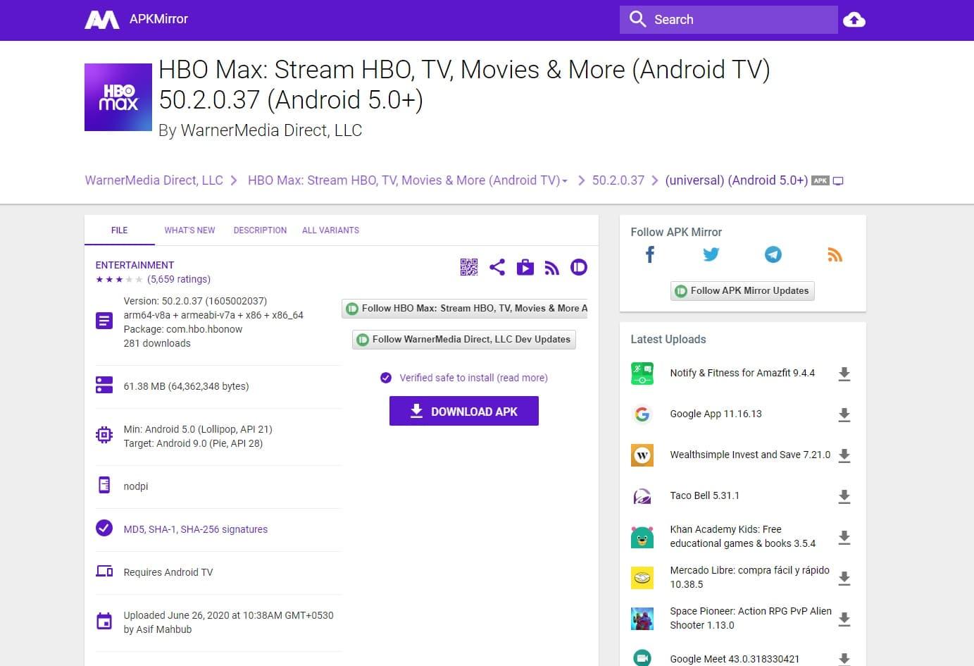 HBO Max Amazon Fire TV