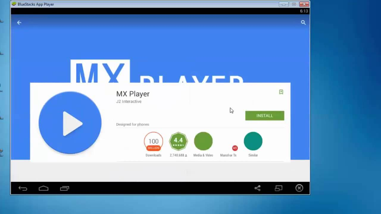 MX Player Bluestacks 4