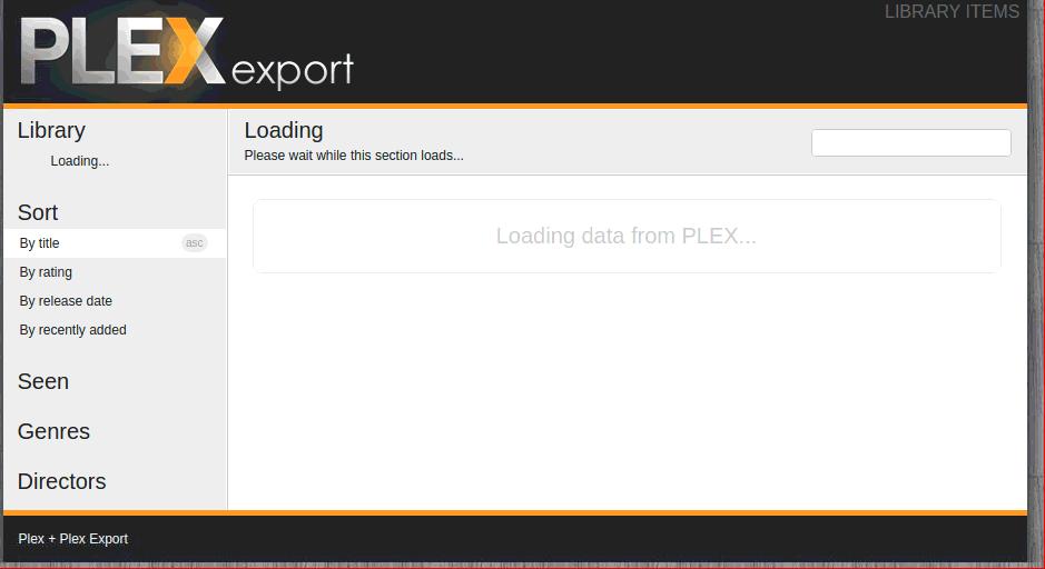 Plex Export plugin