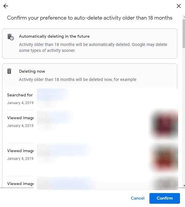 Auto Delete Confirmation