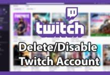 Delete Twitch Account