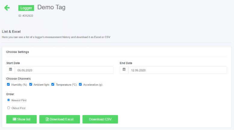 logmore demo tag
