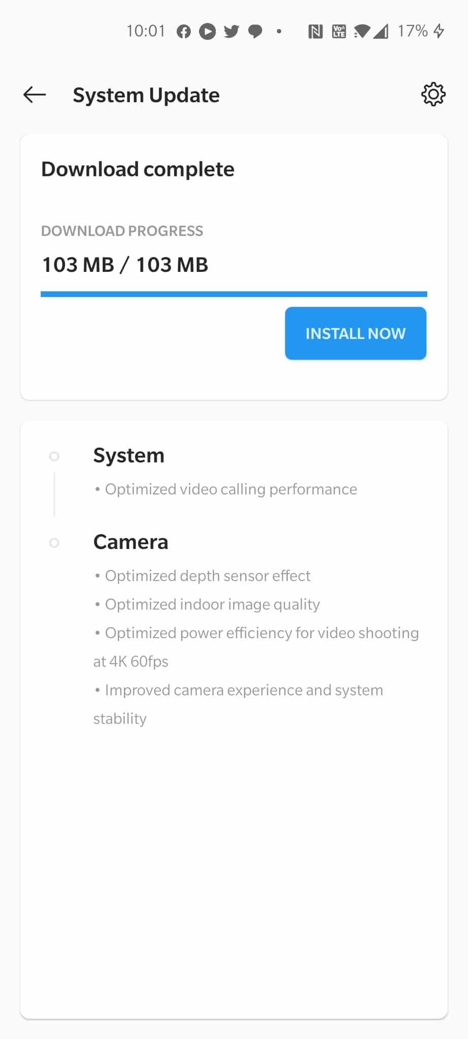 OnePlus Nord OTA Update