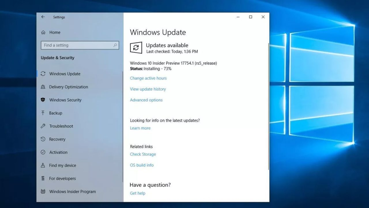 Windows-10-update-page
